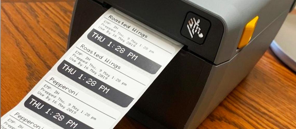 how a food preparation label beats handwritten labels