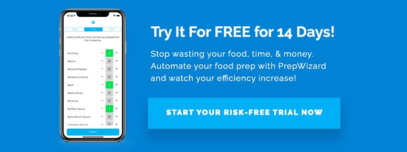 Try It For FREE for 14 Days! Stop wasting your food, time, & money. Automate your food prep with PrepWizard and watch your efficiency increase! Start Your Risk-Free Trial Now